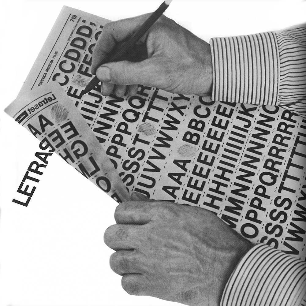 Trasferibili letraset: un'immagine dal catalogo originale.