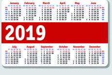 calendario tascabile f.to 8,5x5,5