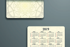 Calendario tascabile f.to 8,5x5,5 stampa fronte e retro