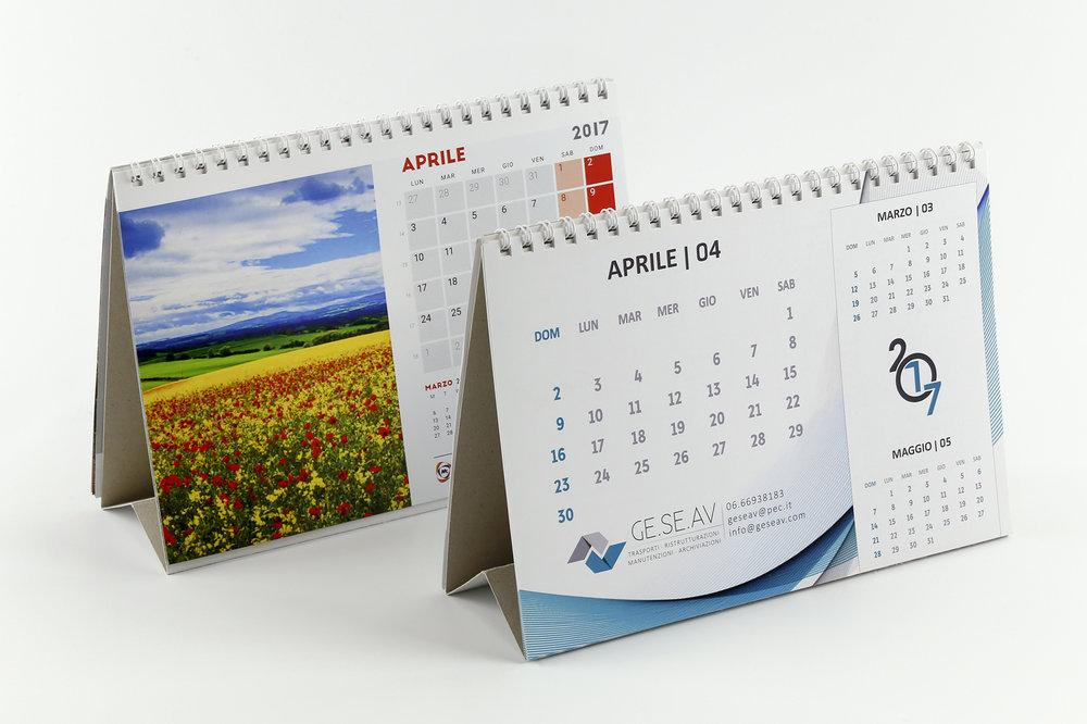 Stampa calendari da tavolo e da scrivania personalizzati